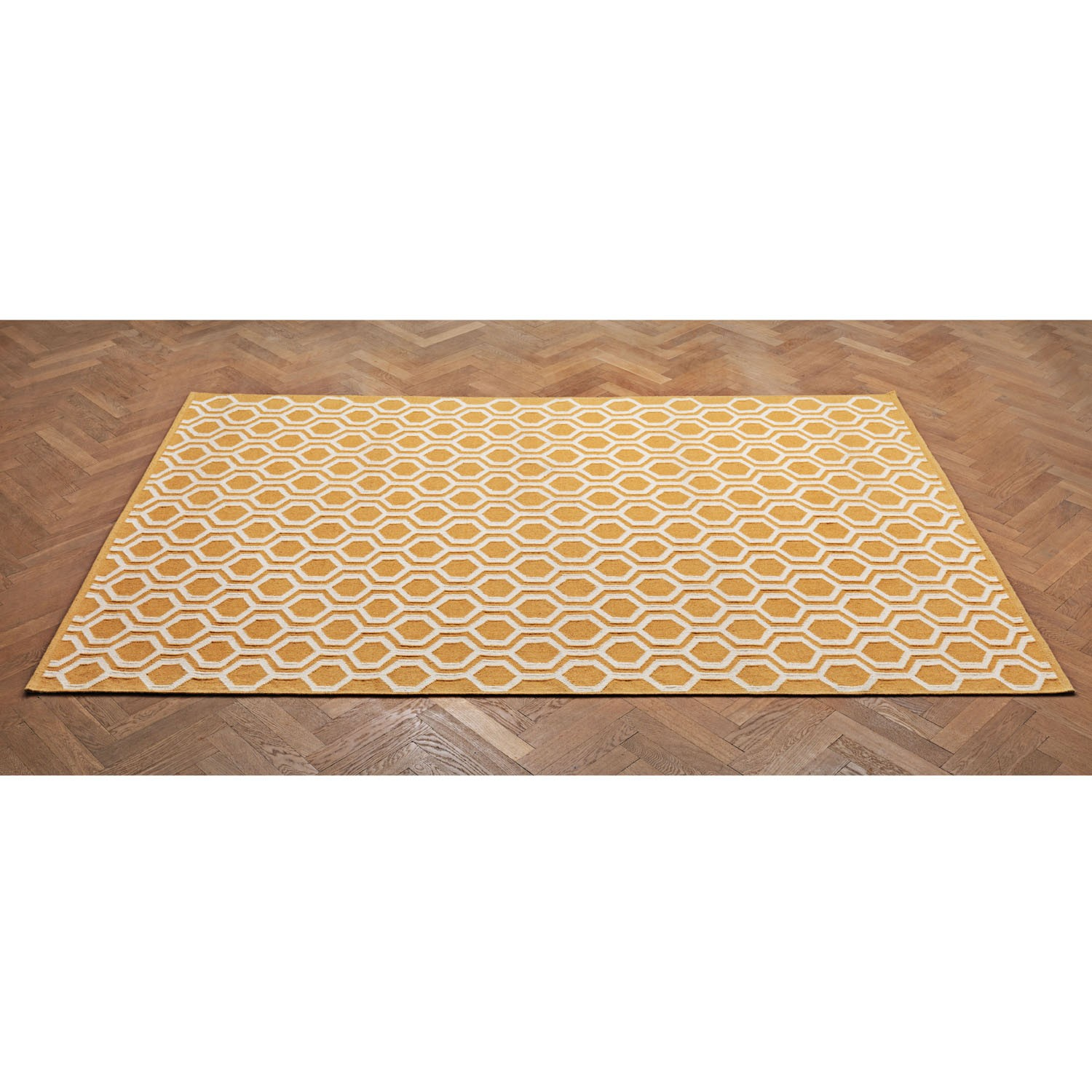 Large floor rug yellow white the blue door - Yellow kitchen floor mats ...