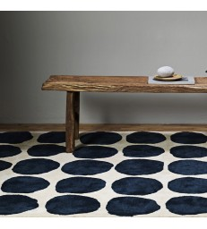 Blue Dots Wool Floor Rug