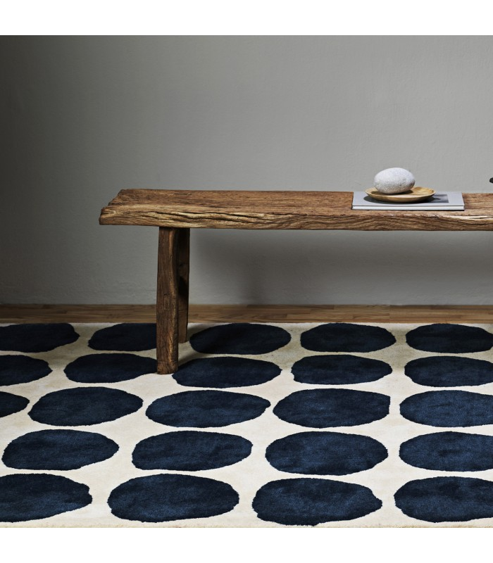 Blue Dots Floor Rug