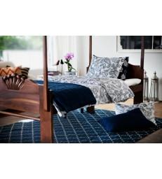Indigo Blue Geometric Style Floor Rug
