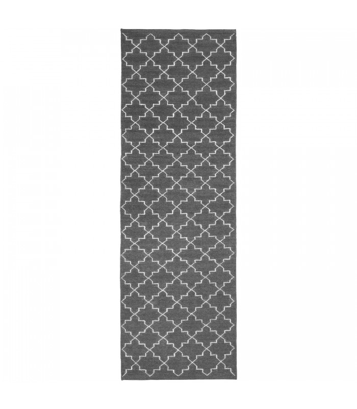 Dark Grey Geometric pattern floor runner