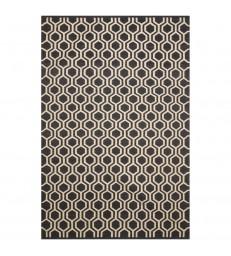Dark grey and white Floor Rug