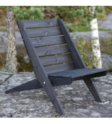 dark timber reclining garden chair easily foldable and comfertable