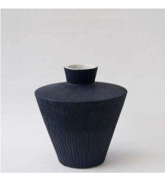 Dark Blue Ceramic Vessel