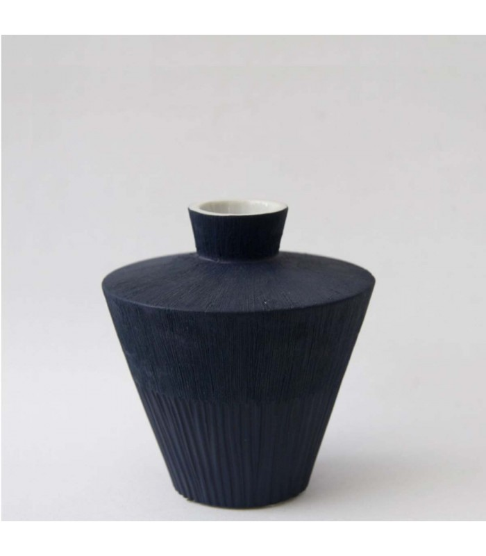 Dark Blue Ceramic Vessel danish design inspired by nature