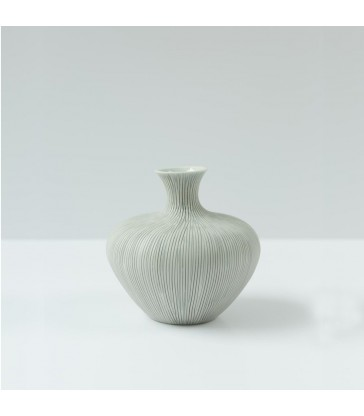 scandinavian ceramic vase grey and white two tone modern vase