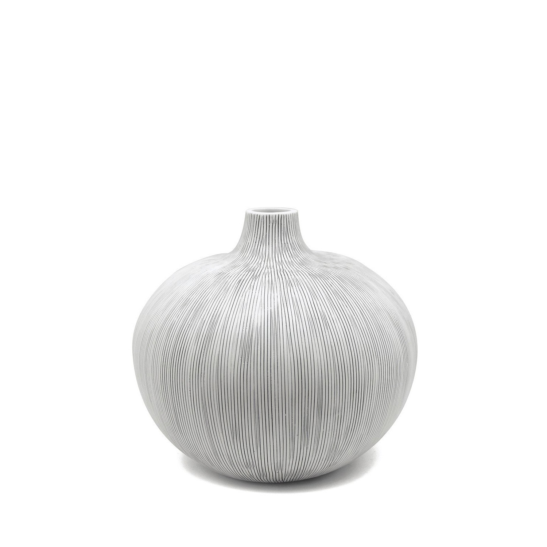Miniature Ceramic Bud Vase Grey And White The Blue Door