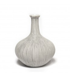 Large Grey Ceramic Bottle Neck Vase