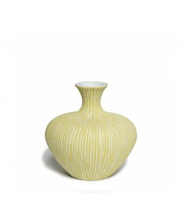 Scandinavian Yellow Ceramic Vase  Gifts for mum