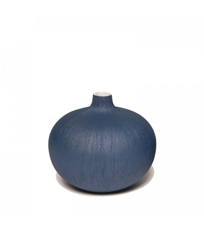 Miniature Ceramic Bud Vase - Dark Blue