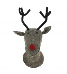 Rudolf door / wall decoration Brown Grey