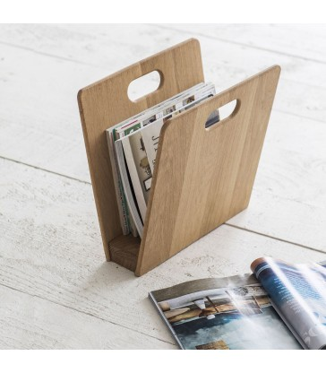 Timber Magazine Rack