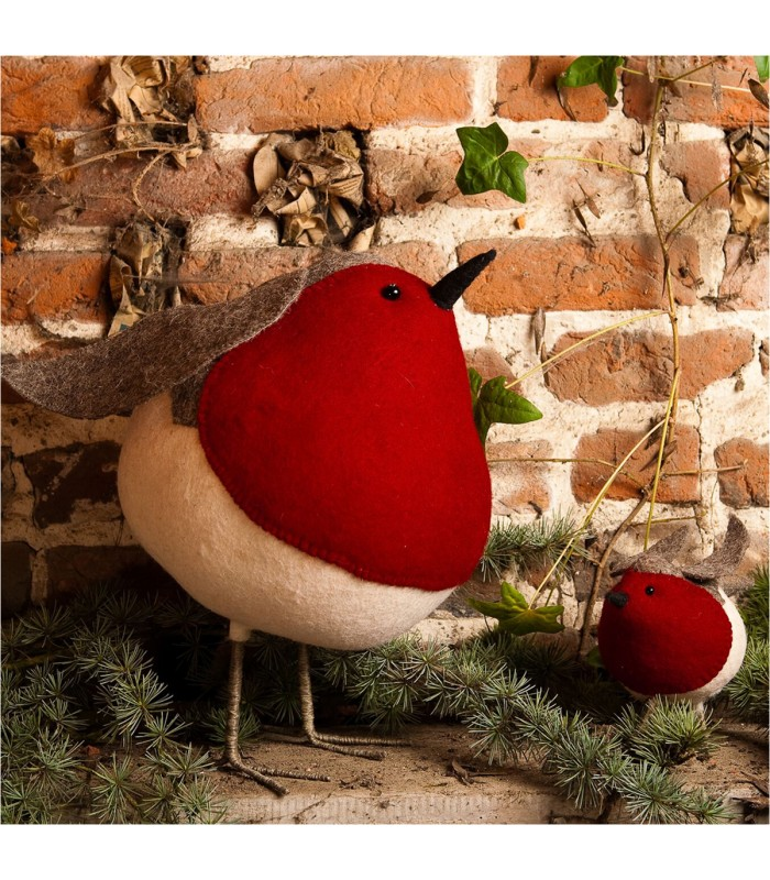 big fat robin red breast large christmas decorations at the blue door scandinavian christmas