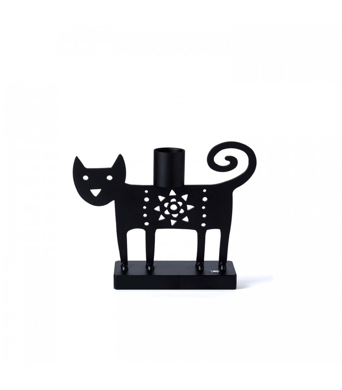 black cat candlestick holder gifts for animal lovers