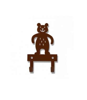 nursery decor brown bear hanger door hanger