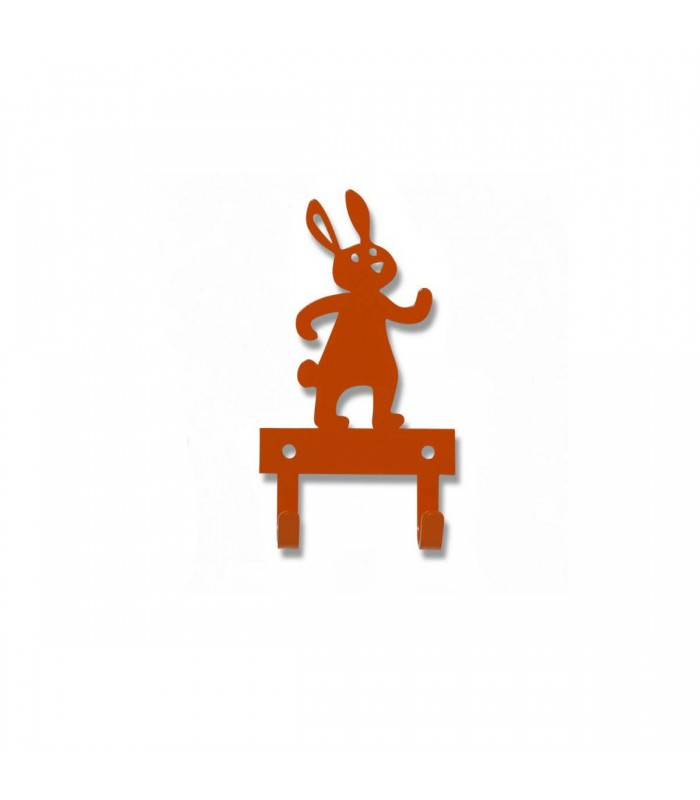 orange rabbit metal hanger baby room decor