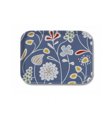 blue meadow flowers small birch tray hostess gifts