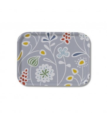 grey flower meadows tray scandinavian tray modern graphic pattern