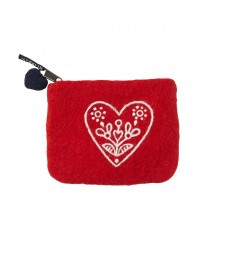 Red Heart Wool Purse