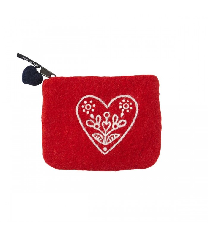 red heart love felted wool purse secret santa gifts for teenagers gifts for her