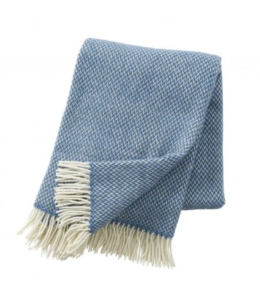 china blue merino and lambs wool throw home gifts at the blue door monkstown