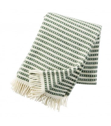green and white modern stripe pattern wool throw scandi chic wol throws.jpg