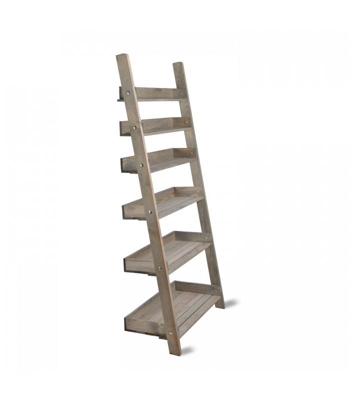 Wide Folding Shelf Ladder The Blue Door