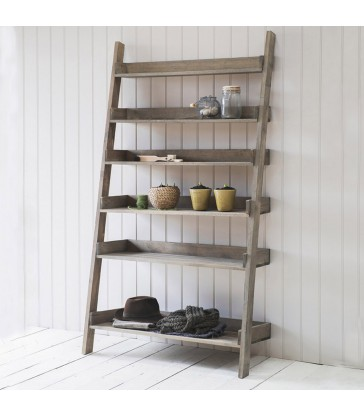 Wide Folding Shelf Ladder