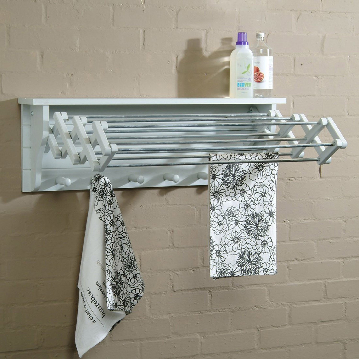 Extendable Timber Clothes Dryer Wall Mounted The Blue Door
