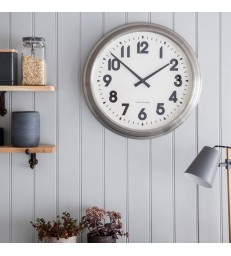 Large Stainless Steel Wall Clock