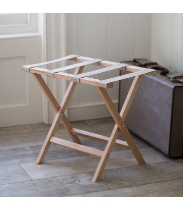 Folding Luggage Rack in Beech