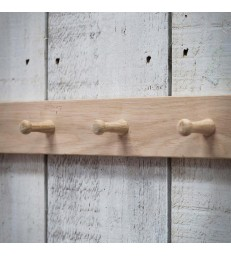 Raw Oak 3 Peg Rail