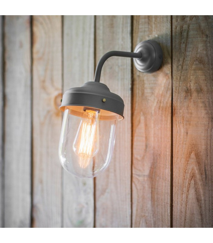 Barn Light in Charcoal Grey