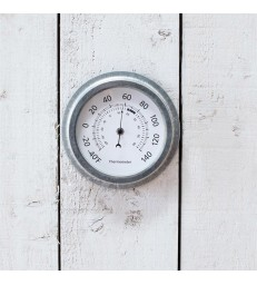 Outdoor Garden Thermometer - Galvanised Steel
