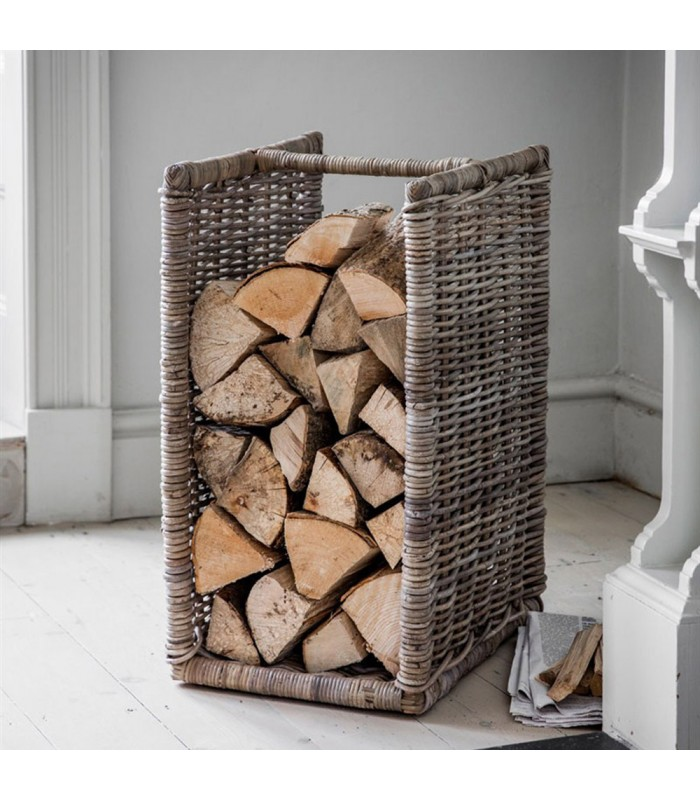 Natural Kubu Rattan Log Holder