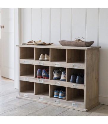 Shoe Locker with 12 cubby holes home storage in style