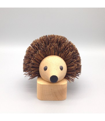 Timber doorstop with hedgehog theme, a great gift for animal lovers