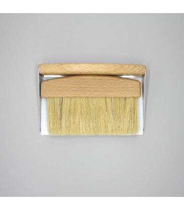 table crumb brush in light oak timber
