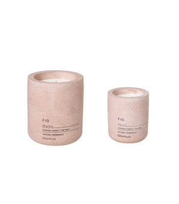 Fig Scented Soy Wax Candle  made from concrete and soy wax in two sizes