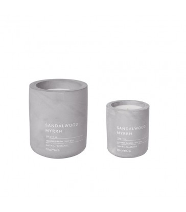 Sandlewood and myrrh scented candle in two sizes