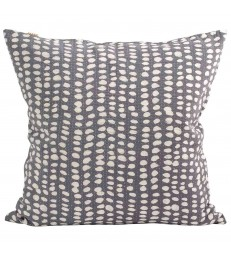 Grey and White Batik Print Cushion