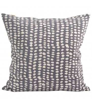 Grey and White Spot Batik Cushion