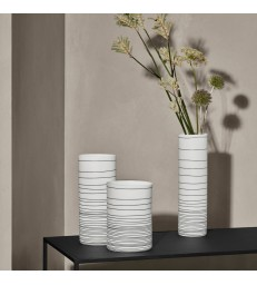 White  Zebra Porcelain Vases - 3 sizes