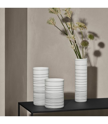 Black and White Porcelain Vases - 3 sizes