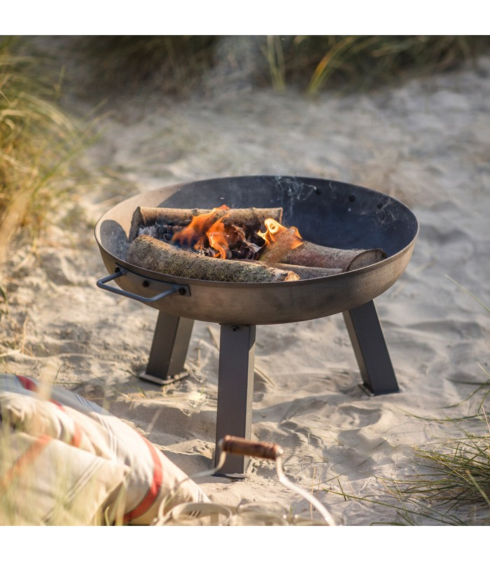 small size fire pit perfect for a city garden