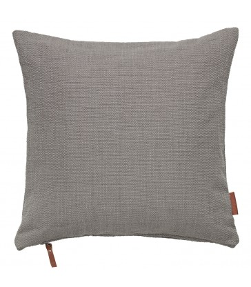 cotton hand loomed cushion in mud colour