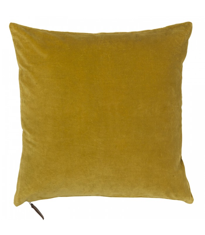 Soft Velvet Cushion - Curry mustard yellow colour
