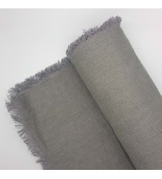 Rustic Dark Grey Linen Tablecloth - 250cm