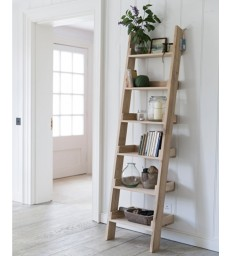 Oak Shelf Ladder - Narrow