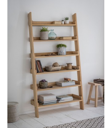 Oak Shelf Ladder - Wide